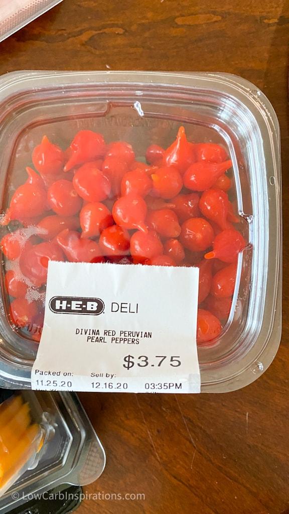 Peruvian pearl peppers used in the Easy Keto Charcuterie Board with keto cornucopia bread