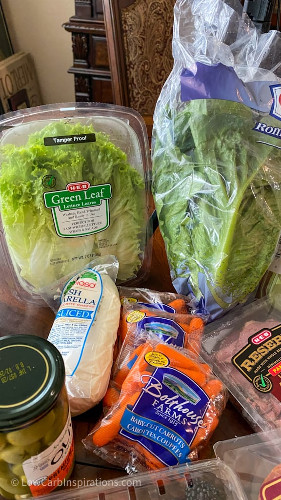 Lettuce used on the charcuterie board