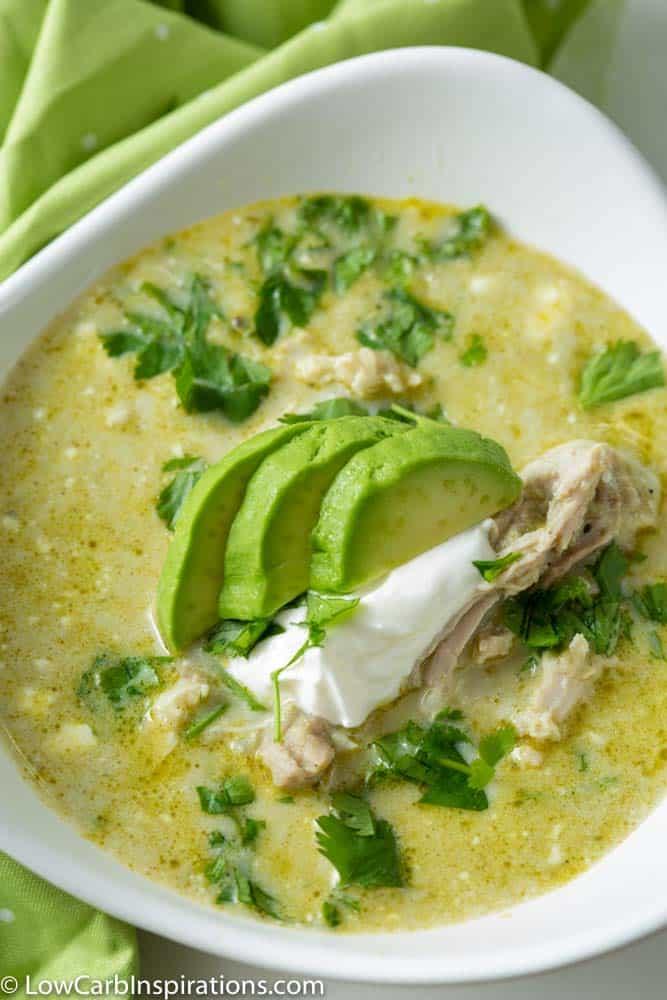 Creamy Green Enchilada Chicken Soup Recipe