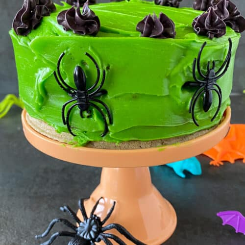 Keto Halloween Chaffle Cake