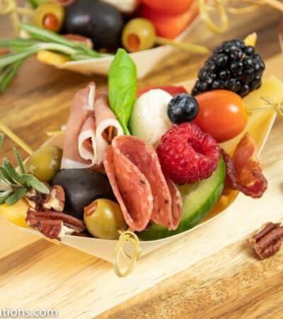 Low Carb Individual Appetizer Trays for Parties