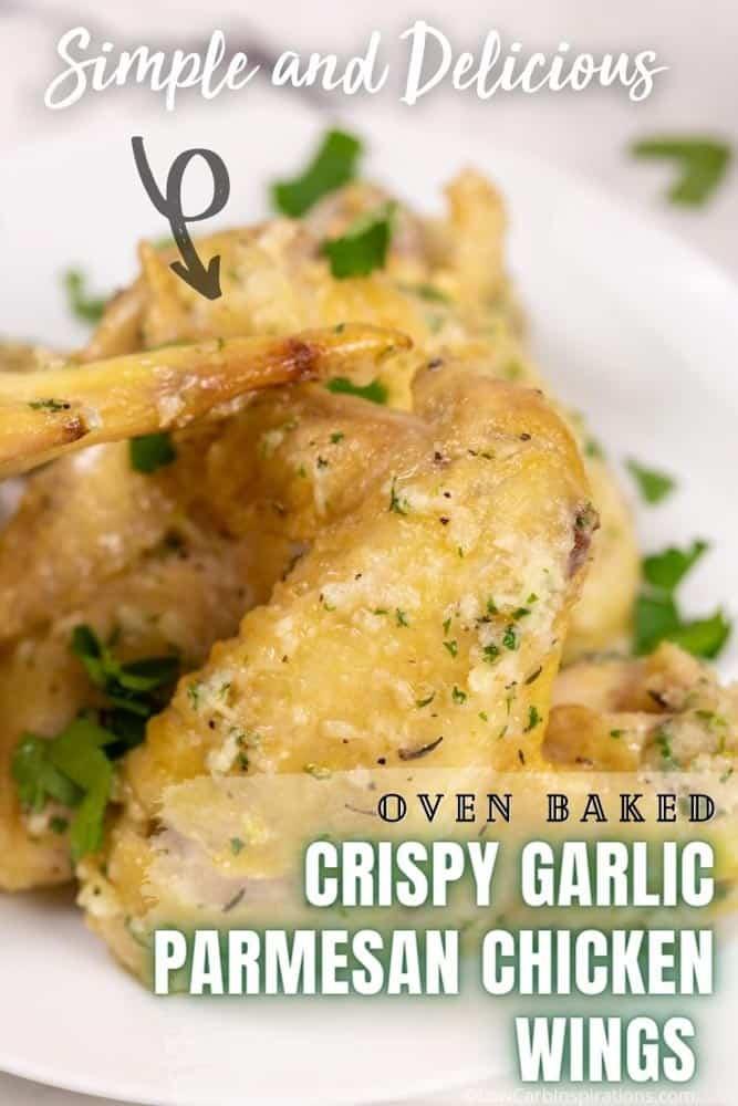 Oven Baked Crispy Garlic Parmesan Chicken Wings Recipe