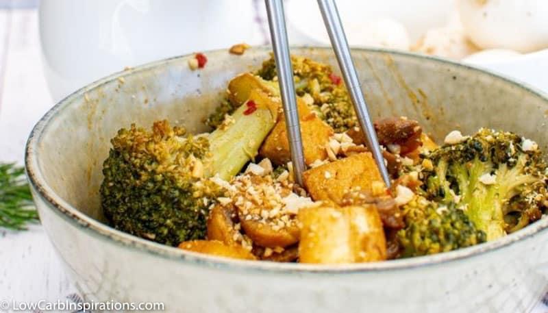 Tofu Stir-Fry with Broccoli & Mushrooms Recipe