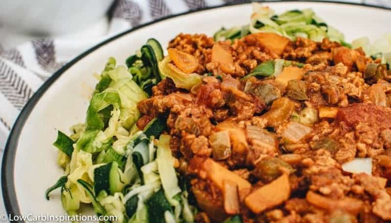 Zucchini Noodles with Bolognese Sauce Recipe