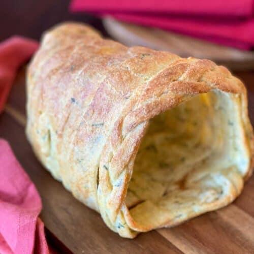 Keto Cornucopia Bread Recipe on a cutting board