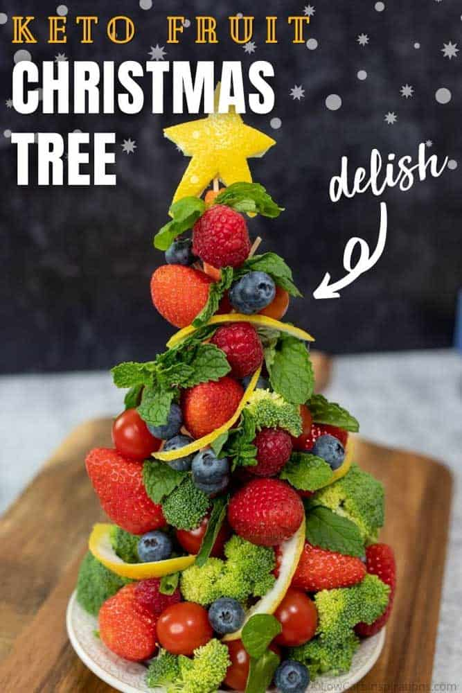 Keto Fruit Christmas Tree