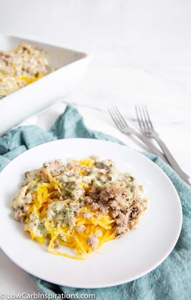 Keto Spaghetti Squash Casserole Recipe