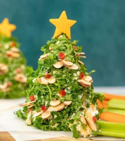Keto Vegetable Christmas Tree