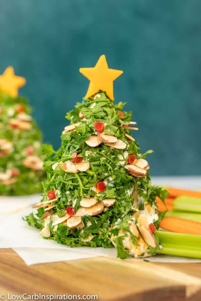 Keto Vegetable Christmas Tree