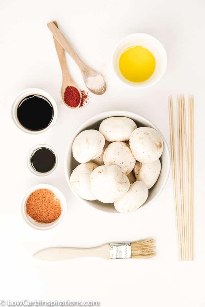 BBQ Grilled Mushrooms Ingredients