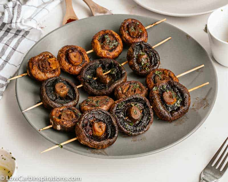 BBQ Grilled Mushrooms