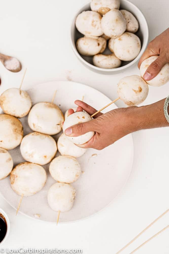 BBQ Mushroom Skewer