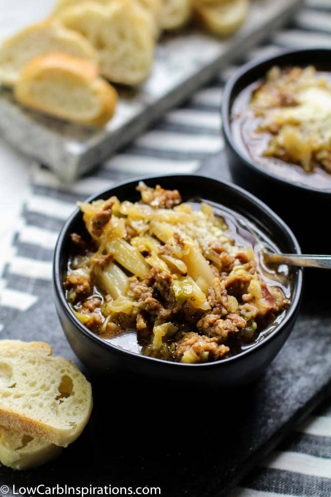 Instant Pot Sausage and Cabbage Soup Recipe