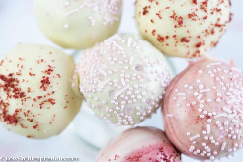 Keto Red Velvet Cake Pops Recipe