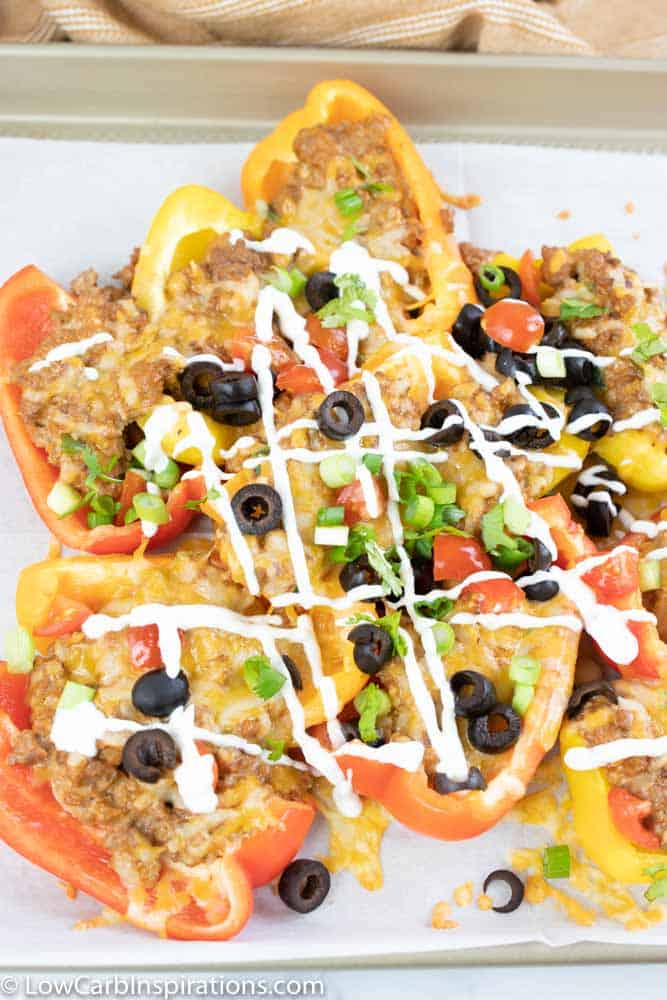 Loaded Low Carb Bell Pepper Nachos