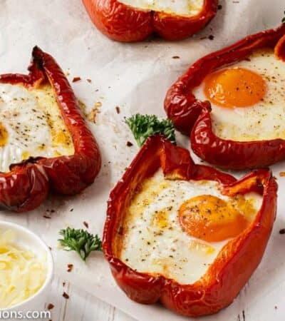 Bell Pepper Egg Boats Recipe