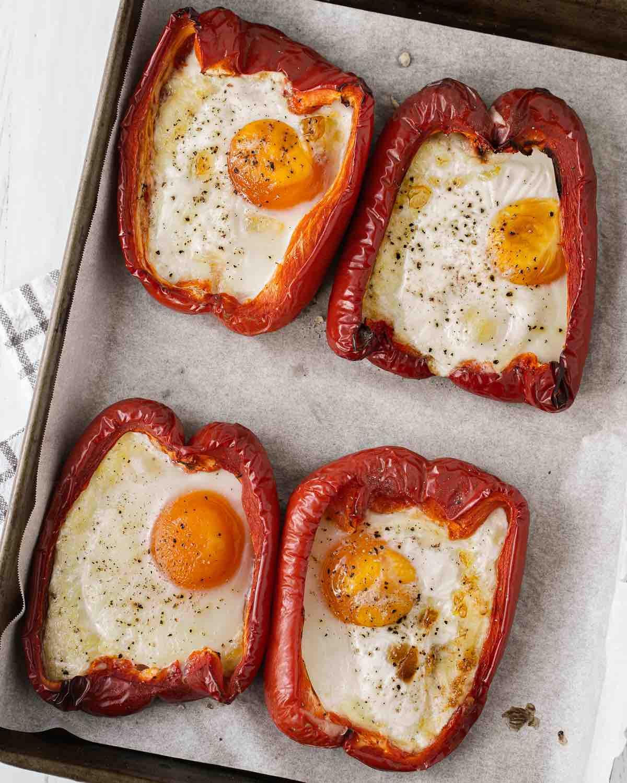 Bell Pepper Egg Boats Recipe