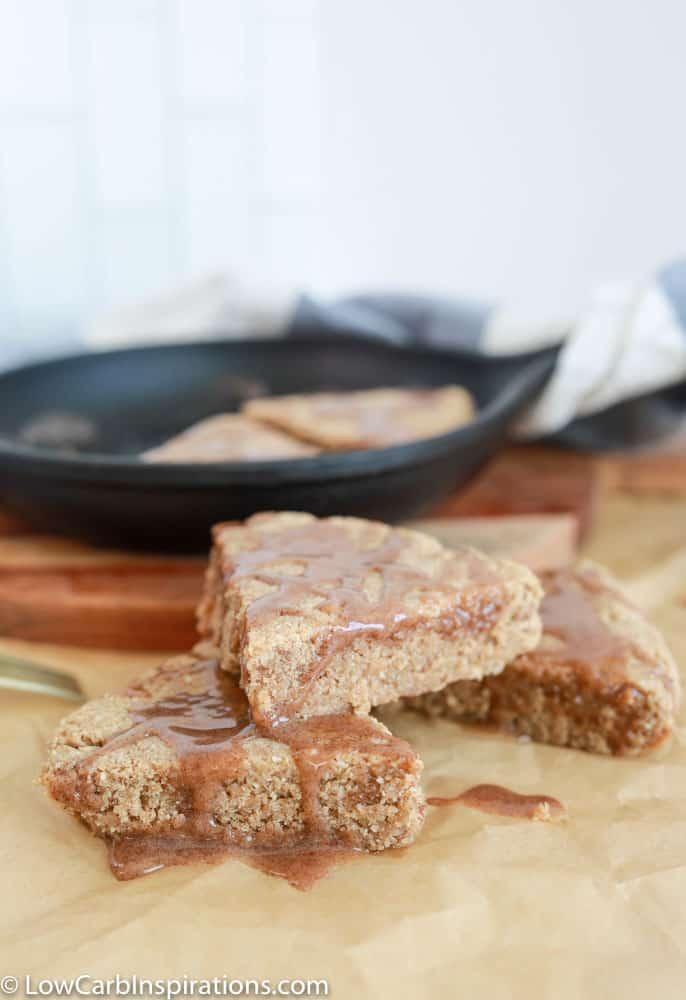 amazing keto cinnamon scones on a table