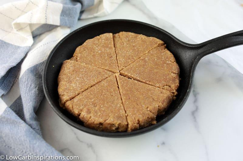 Keto Cinnamon Scones Recipe in a cast iron skillet