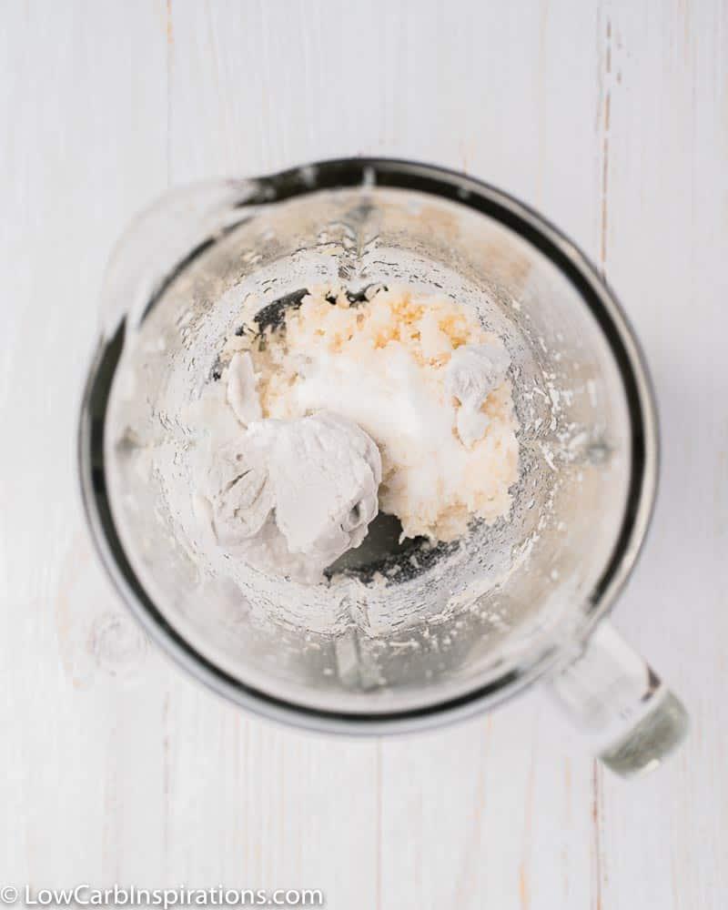 coconut ingredients in a blender