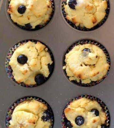 close up of keto muffins recipe in a muffin pan