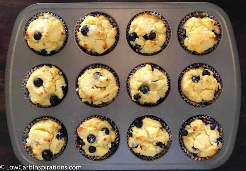 low carb muffins recipe in a muffin pan