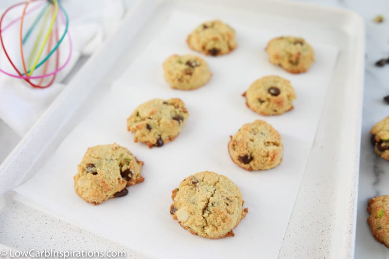baked kitchen sink cookies on a cookie sheet