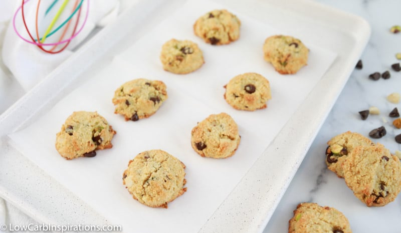baked kitchen sink cookies on a baking sheet ready to eat