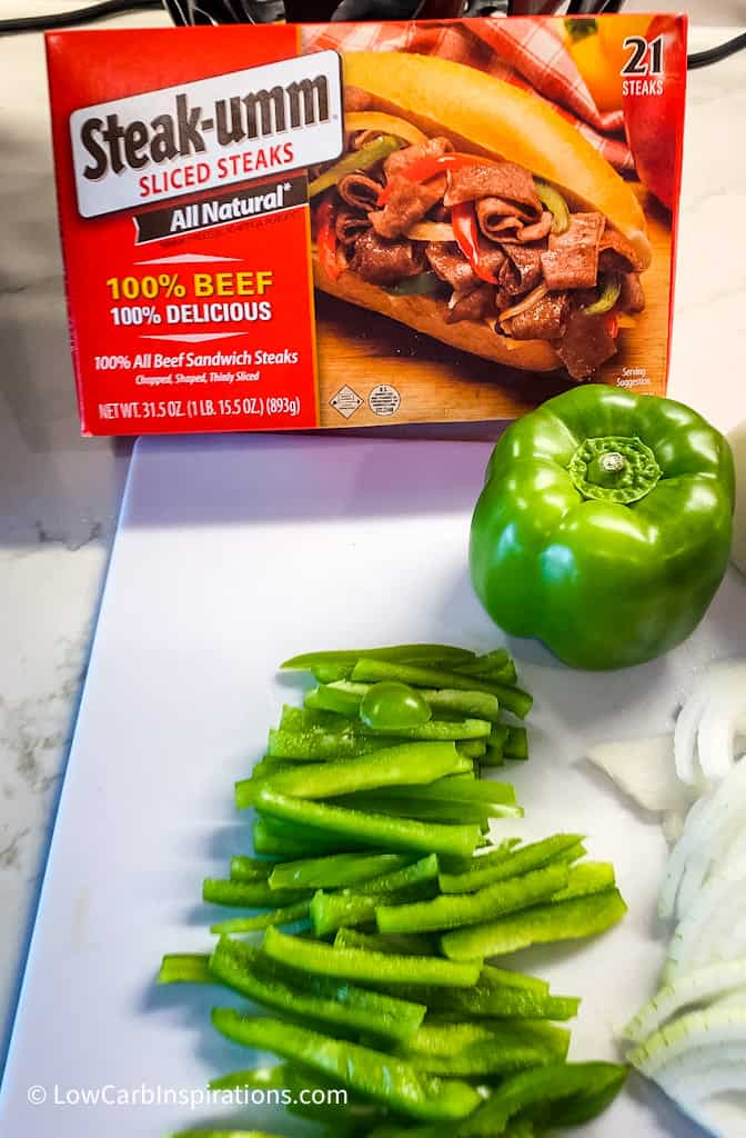 Keto Philly Cheesesteaks