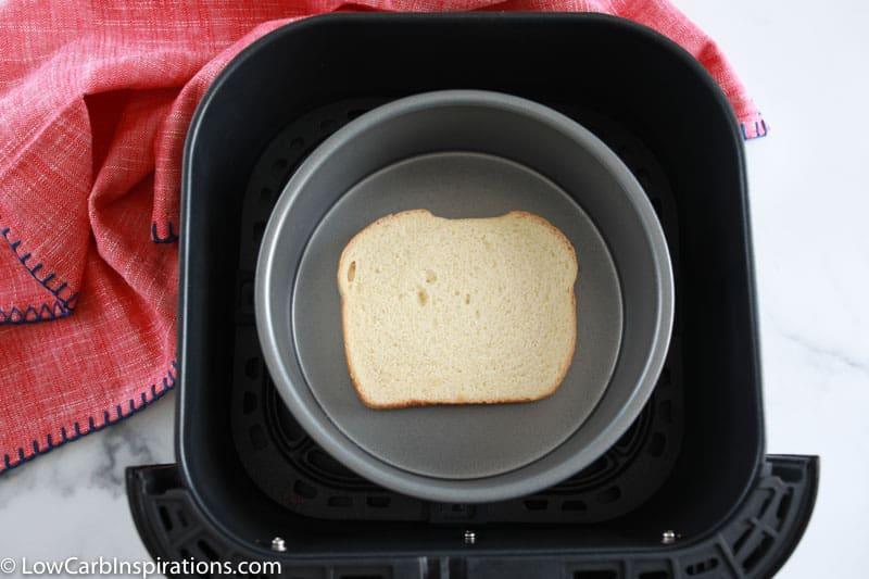 keto bread in an air fryer