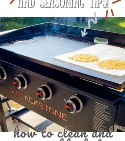hot blackstone griddle with melted cheese