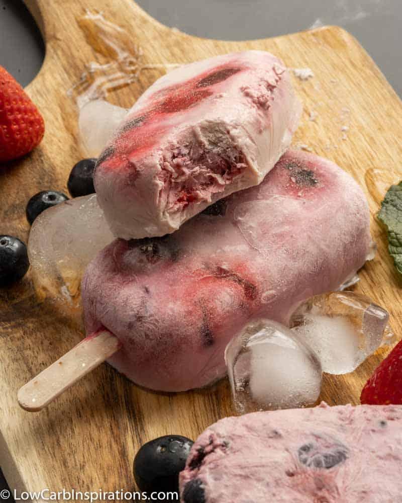 Keto Triple Berry Popsicles Recipe
