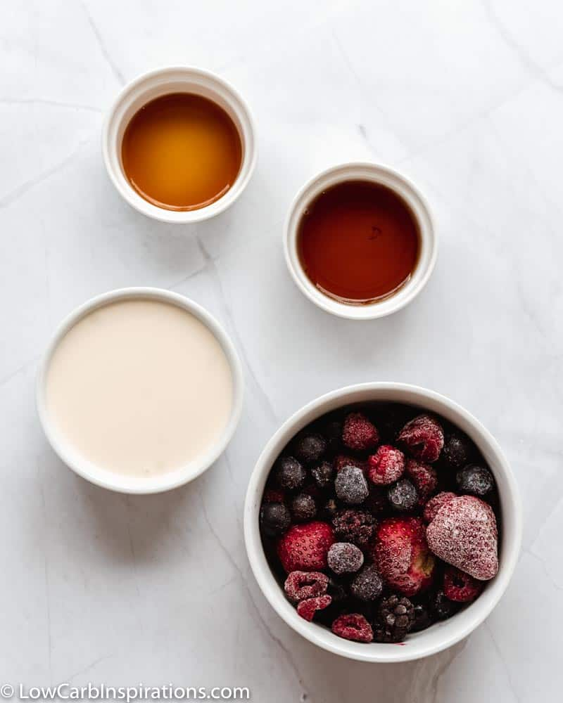 Keto Triple Berry Popsicles Recipe ingredients