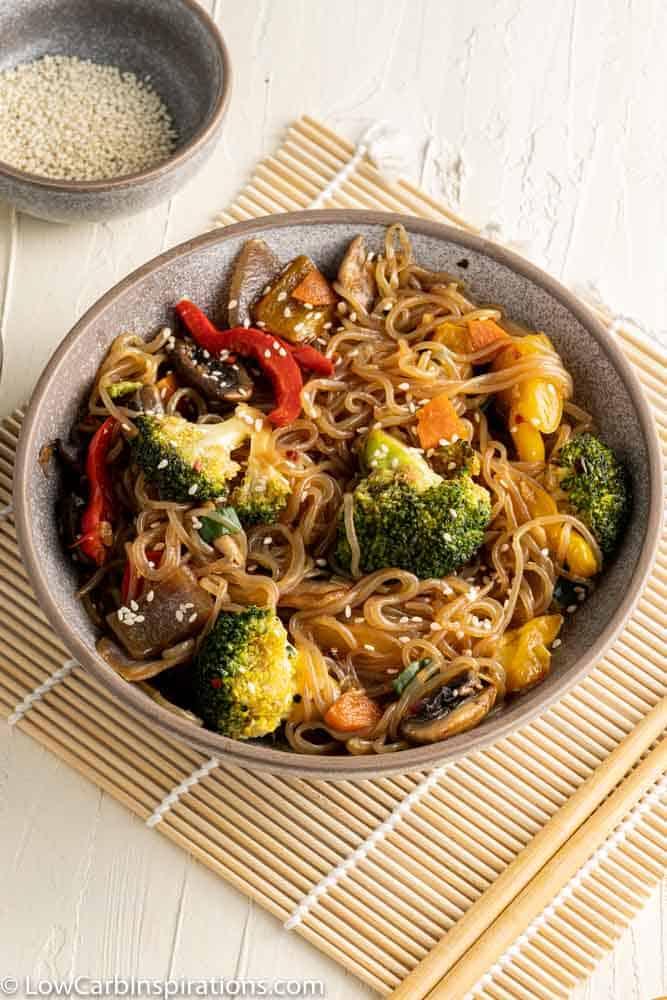 Stir Fry Vegetables with Low Carb Noodles