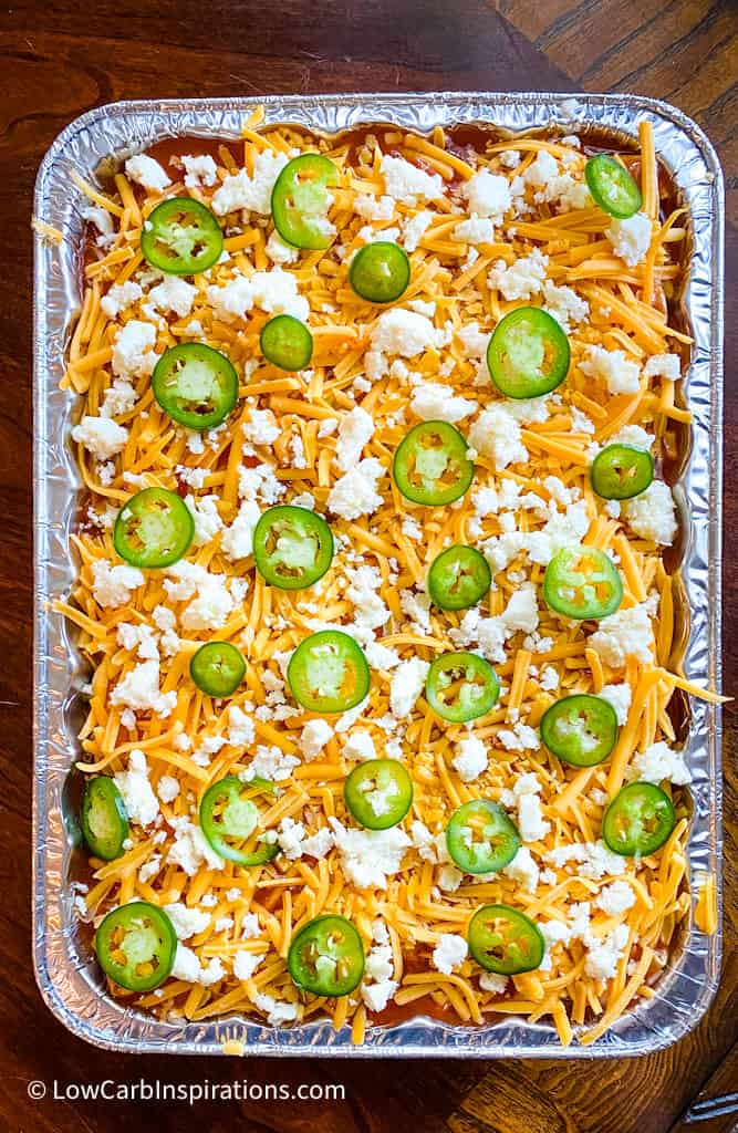 Precooked Easy Keto Beef and Cheese Enchiladas Recipe
