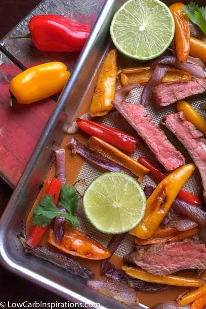 Easy Sheet Pan Beef Fajitas