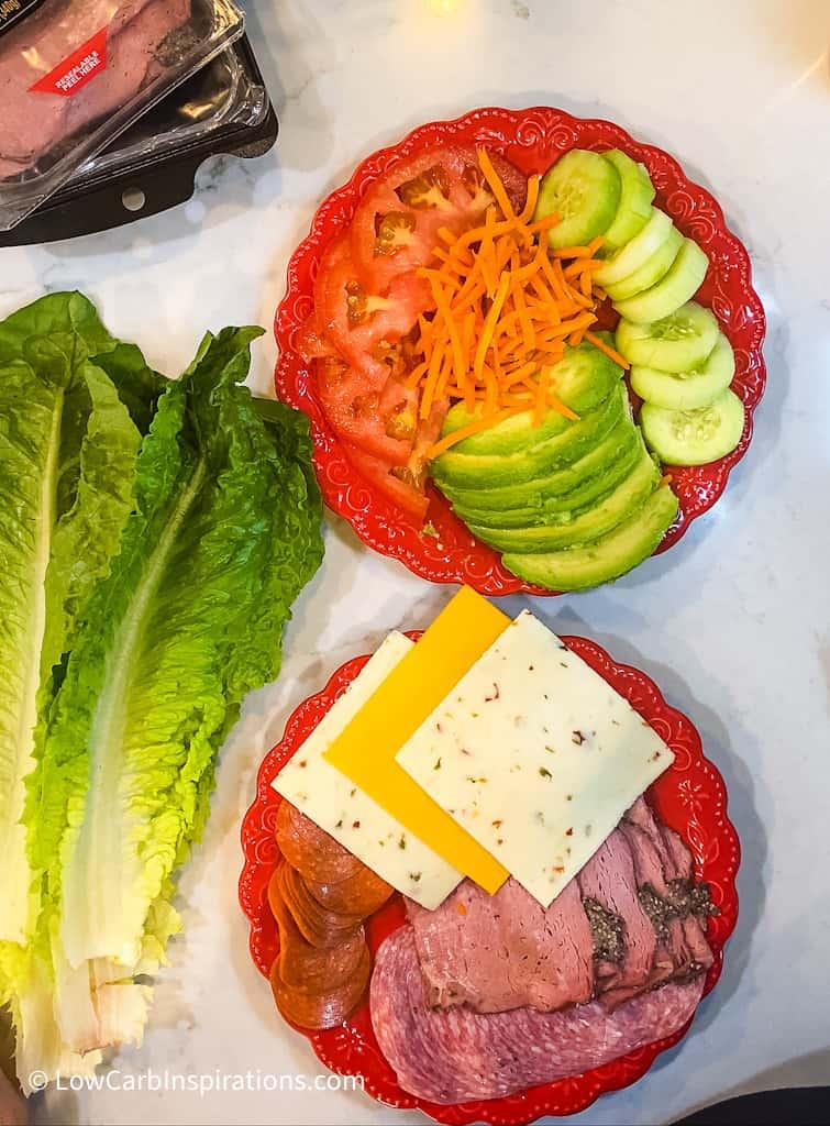 Lettuce Wrapped Sandwich ingredients