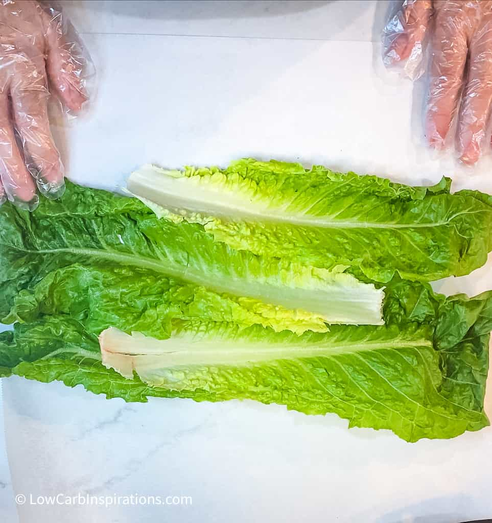 How to make a lettuce wrap sandwich