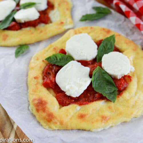 Keto Cheese Crust Margherita Pizza Recipe