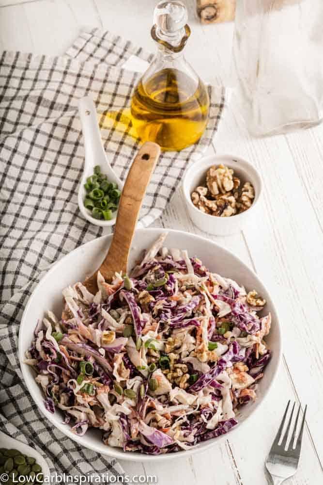 Loaded Keto Crunchy Coleslaw Recipe