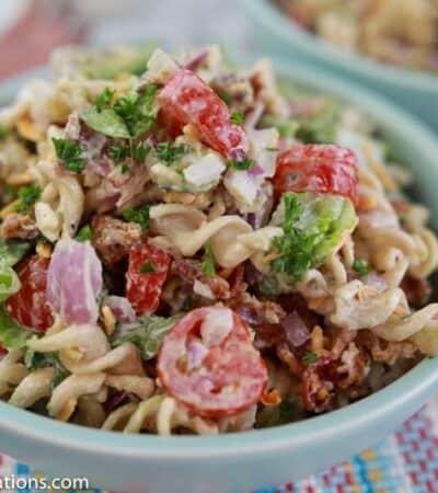 Low Carb BLT Pasta Salad