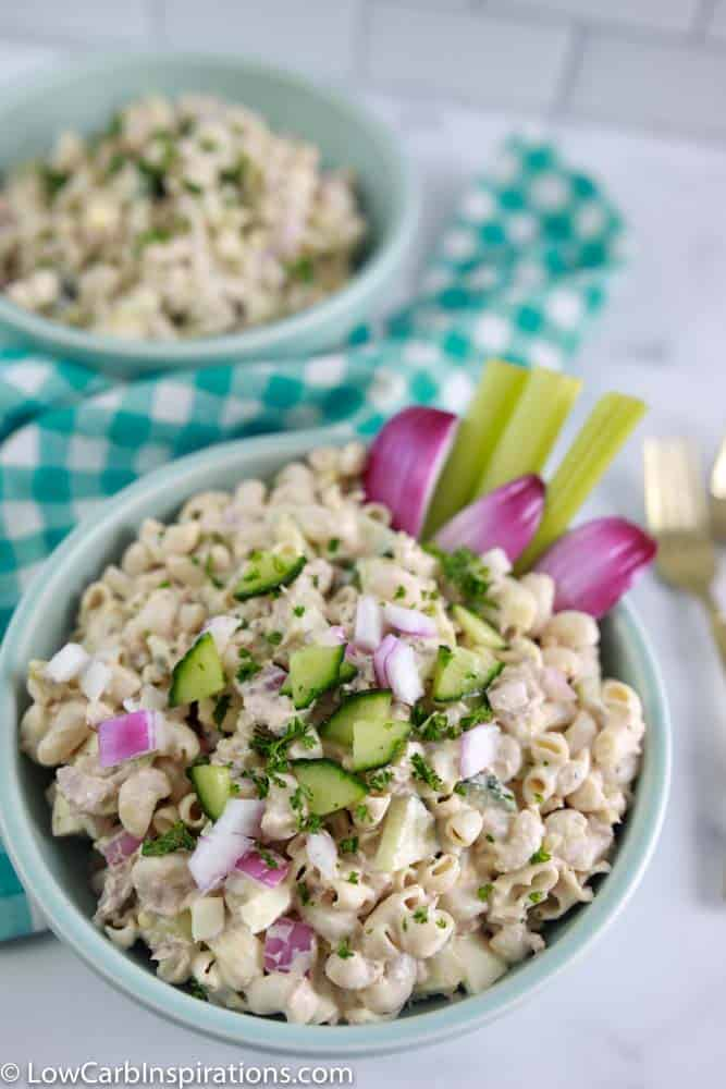 Quick and Easy Keto Tuna Pasta Salad Recipe