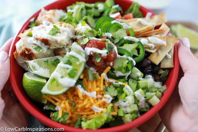 Keto Tex Mex Salad Recipe with Grilled Chicken