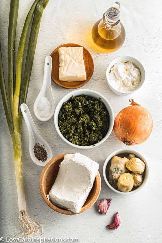 Spinach Artichoke Dip Recipe Ingredients