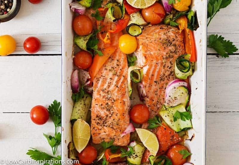 Baked Salmon and Veggies Recipe