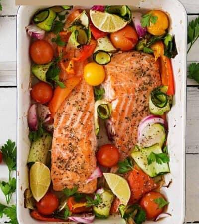 Easy Baked Salmon and Veggies