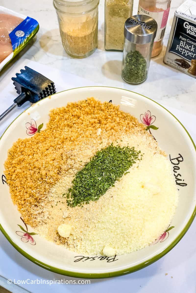 Keto breading option for Parmesan Chicken