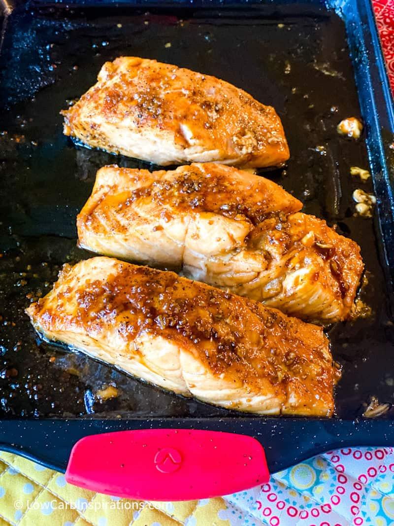 Keto Glazed Garlic Salmon Recipe
