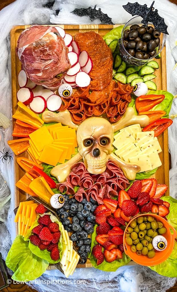 Keto Skeleton Charcuterie Board Recipe and Tutorial