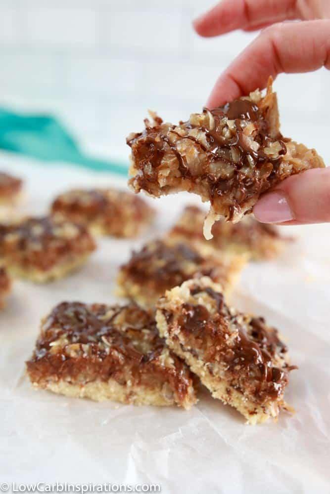 Homemade Keto Samoa Cookie Bars Recipe